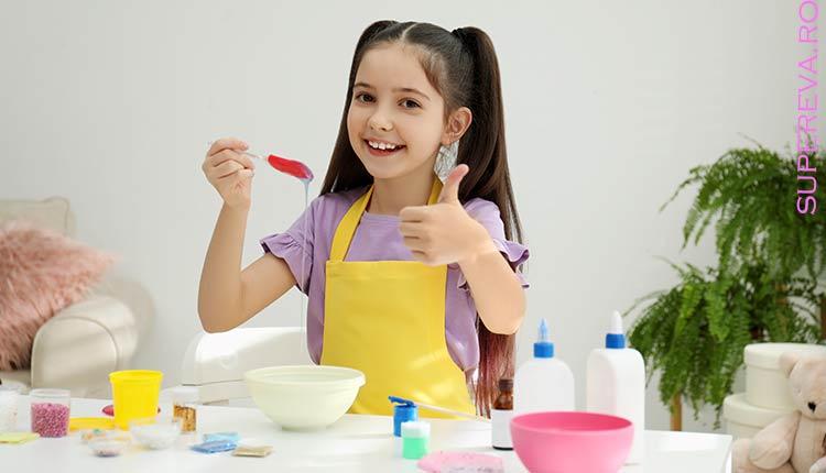 Reteta simpla de Slime pufos pentru copii